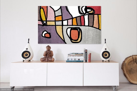 Mid Century Modern Art, Midcentury Canvas Art, Abstract Art, Contemporary Art, Modern Art, Mid Century Wall Decor, Midcentury Painting