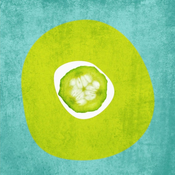 "English Cucumber. Canvas Print by Irena Orlov 16"" x 16"", large canvas art print, wall art print, wall decor, fine art print"