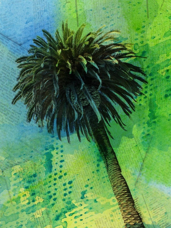 "Palm tree tropical. Canvas Print by Irena Orlov 40x30"""