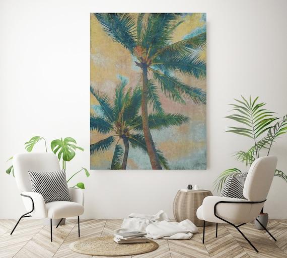 Palm Tree Art, Tropical Palm Print, Tropical Wall Art, Palm Tree Wall Art, Palm Trees Canvas Art Print Beachscape home decor, beach, Palms