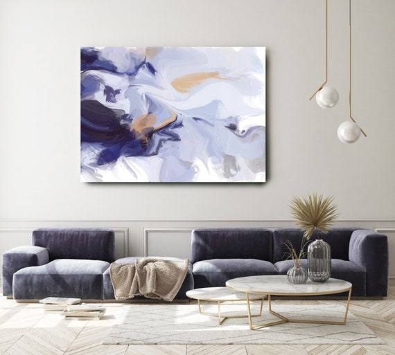 Abstract Painting Blue Abstract Painting Abstract Canvas Art Abstract Art Abstract Wall Art Abstract Canvas Print, Contemporary Hand Painted