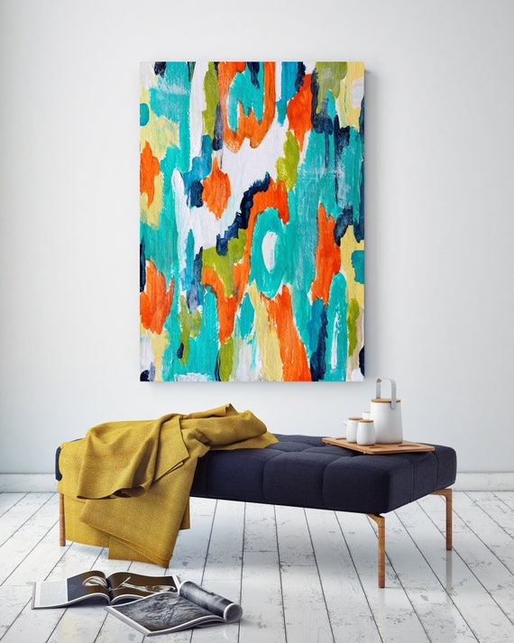 "Eastern Magic. Abstract Paintings Art, Wall Decor, Extra Large Abstract Colorful Contemporary Canvas Art Print up to 72"" by Irena Orlov"