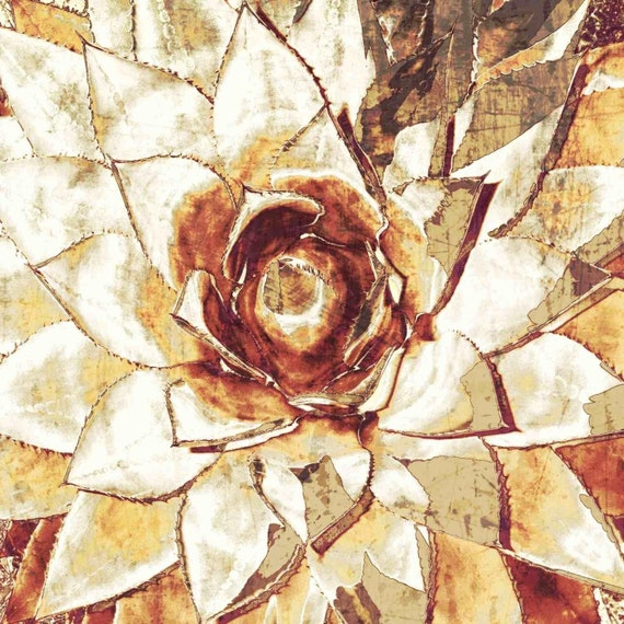 "Succulent Blossom. Canvas Print by Irena Orlov 30x30"""