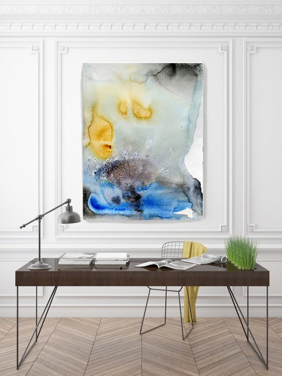 "ORL-7957-1 Oceanside. Watercolor Abstract, Wall Decor, Extra Large Abstract Colorful Contemporary Canvas Art Print up to 72"" by Irena Orlov"