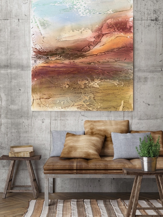 "Autumn Colors. Abstract Paintings Art, Wall Decor, Extra Large Abstract Colorful Contemporary Canvas Art Print up to 72"" by Irena Orlov"