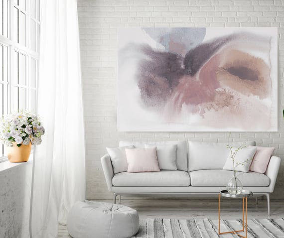 "In the natural World 4. Pink Abstract Paintings Art, Extra Large Abstract Pink Brown Contemporary Canvas Art Print up to 72"" by Irena Orlov"