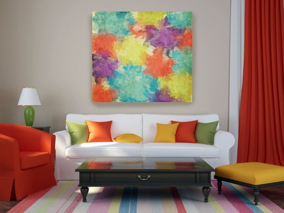 """Kaleidoscope N-96-2. Abstract Paintings Art, Wall Decor Extra Large Abstract Colorful Contemporary Canvas Art Print up to 48"""" by Irena Orlov"""