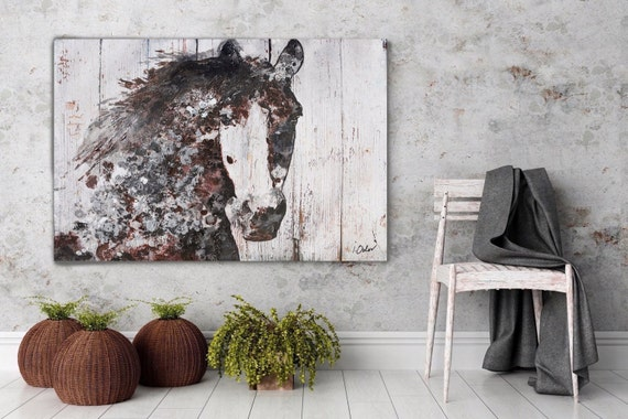"Gorgeous Brown Horse. Extra Large Horse, Horse Wall Decor, Brown Rustic Horse, Large Contemporary Canvas Art Print up to 72"" by Irena Orlov"