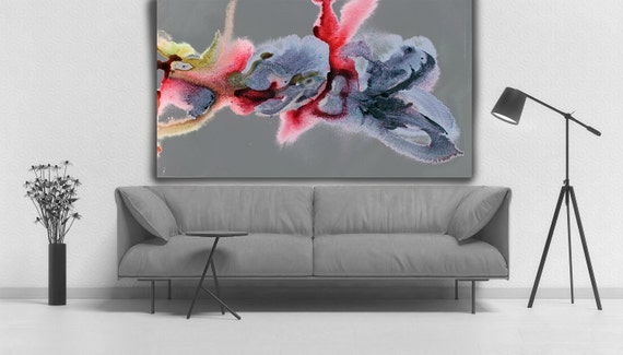 """In my dreams 2-1. Watercolor Abstract, Modern Wall Decor, Large Abstract Colorful Contemporary Canvas Art Print up to 72"""" by Irena Orlov"""