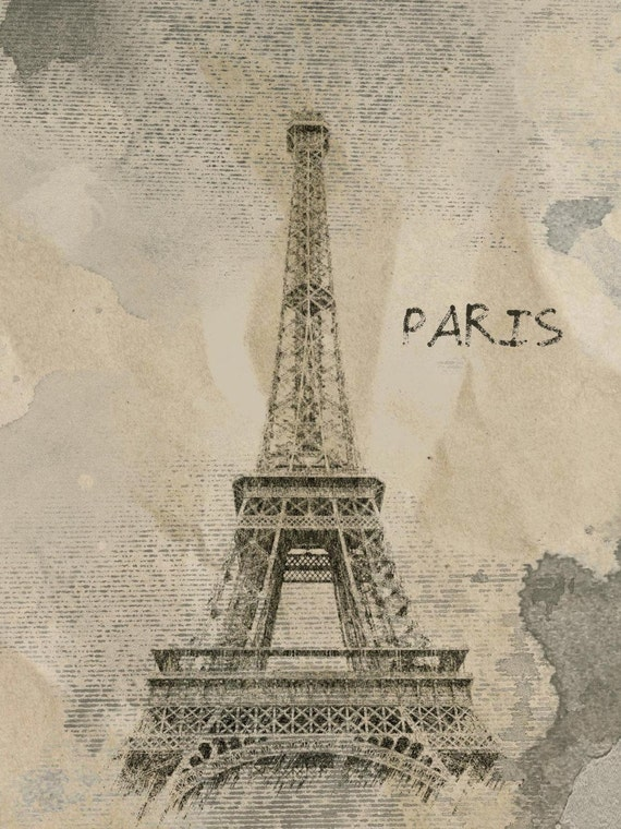 "Paris. Canvas Print by Irena Orlov 24"" x 36"", large canvas art print, wall art print, wall decor, fine art print"