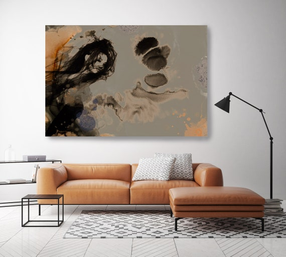 On the cloud, Figurative painting, LARGE Giclee print, Woman painting print, Abstract print, Sensual woman print, Modern wall art, Neutral