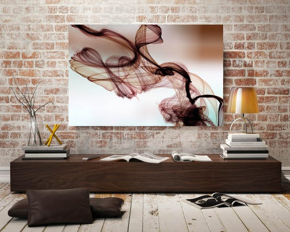 "The Invisible World-Movement 10, Abstract New Media Art, Wall Decor, Extra Large Abstract Brown Canvas Art Print up to 72"", Irena Orlov"