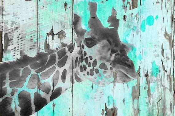 "Giraffe Taking a Look. Canvas Print by Irena Orlov 24x36"""