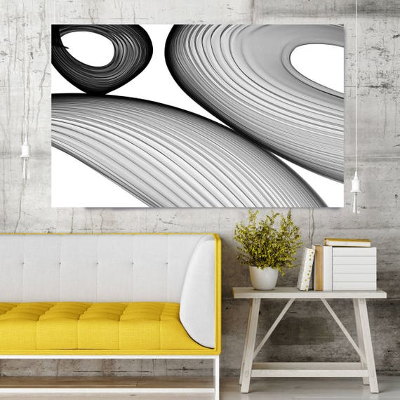 "Abstract Black and White 21-38-14. Contemporary Unique Abstract Wall Decor, Large Contemporary Canvas Art Print up to 72"" by Irena Orlov"