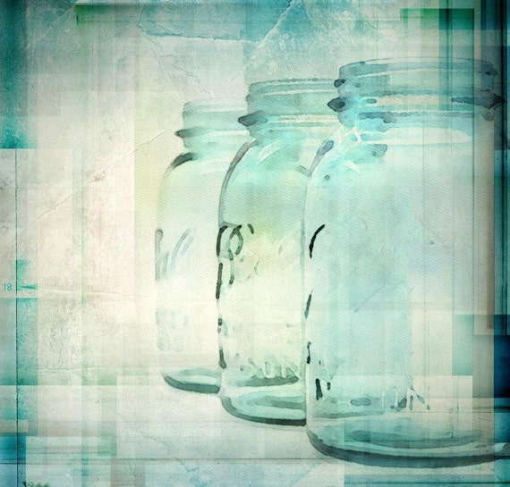 Just Jars. Canvas  Print by Irena Orlov 24x24""