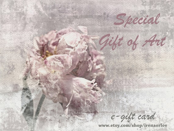 Art Gift Card. Great Gift Idea! Need a last minute gift? Let your loved ones select from a vast array of canvas wall art.