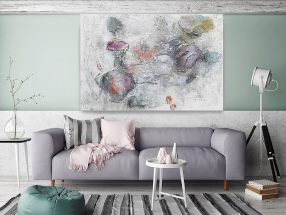 """Organic movement 2. Abstract Paintings Art, Wall Decor, Extra Large Abstract Colorful Contemporary Canvas Art Print up to 72"""" by Irena Orlov"""
