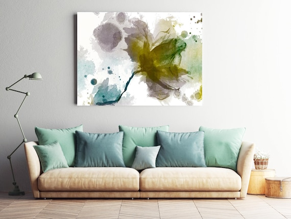 "An unfinished symphony II. Floral Painting, Green Abstract Art, Abstract Colorful Contemporary Canvas Art Print up to 72"" by Irena Orlov"