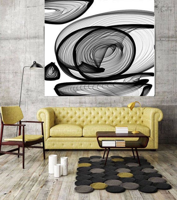 "Industrial feel 21-13-49. New Media Abstract Black and White Canvas Art Print, Canvas Art Print up to 50"" by Irena Orlov"