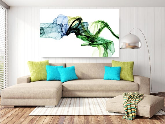 "The Invisible World-Movement 15-2, Abstract New Media Art, Wall Decor, Extra Large Abstract  Canvas Art Print up to 72"" by Irena Orlov"