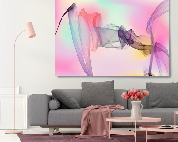 Extra Large Wall Art, Abstract Wall Art Contemporary Art Large Abstract Canvas Abstract Canvas Print, Modern Abstract, New Media Gradient 28