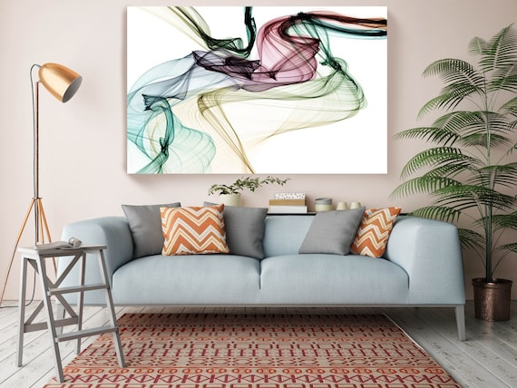 """The Invisible World-Movement20_05_04, Abstract New Media Art, Wall Decor, Extra Large Abstract  Canvas Art Print up to 72"""" by Irena Orlov"""