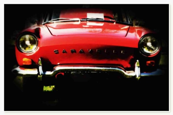 """Red Beauty. Red Car Photography Canvas Art Print, Extra Large Canvas Art Print, Vintage Red Car Wall Art Decor  up to 60"""" by Irena Orlov"""