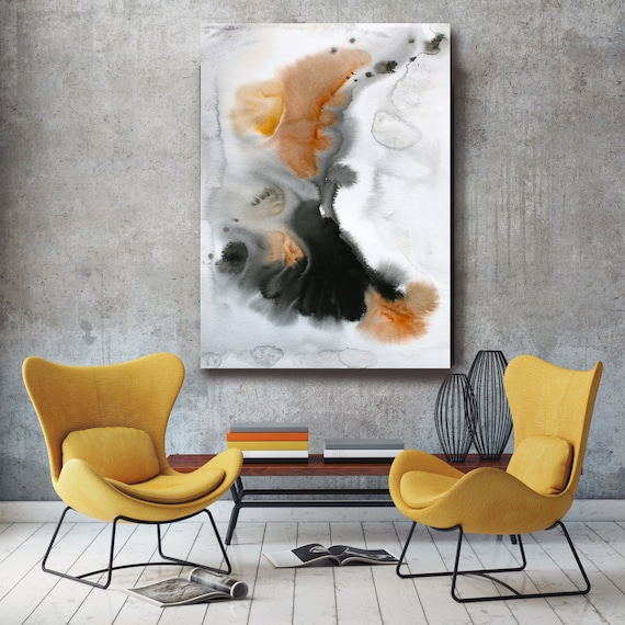 "Watercolor Symphony 27. Watercolor Abstract, Modern Wall Decor, Extra Large Abstract Colorful Canvas Art Print up to 72"" by Irena Orlov"