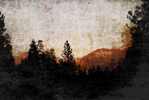 "Pasadena. Huge Rustic Landscape Painting Canvas Art Print, Extra Large Black Brown Canvas Art Print up to 80"" by Irena Orlov"