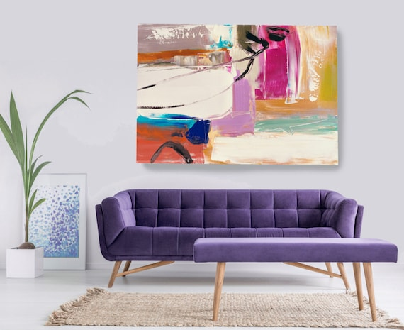 Illusory space and balance 2, Abstract Painting Modern Art Abstract Painting Extra Large Painting Extra Large Abstract Canvas Print