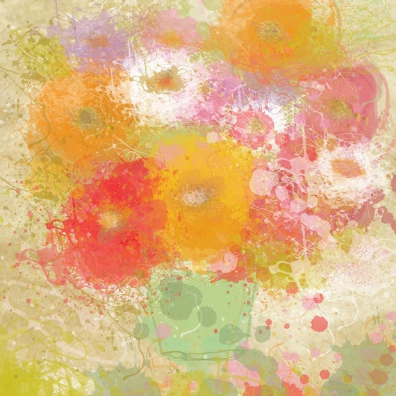 Bunch of flowers by Irena Orlov. Giclee 20 x 20""
