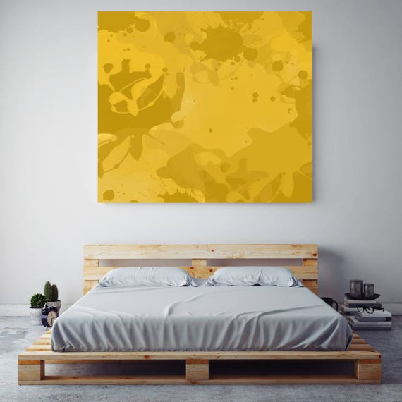 "Gen-Z Yellow Abstract. Abstract Paintings, Wall Decor, Extra Large Abstract Colorful Contemporary Canvas Art Print up to 48"" by Irena Orlov"