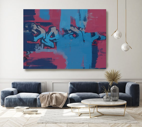 These Arguments are then Discussed, Street Art, Graffiti Art Print, Graffiti on canvas Street Art Print on Canvas Graffiti Canvas Art Print