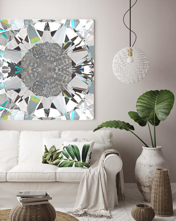 Diamond 5. Original Contemporary Diamond Acrylic/Oil on Canvas, Diamond Art by Irena Orlov