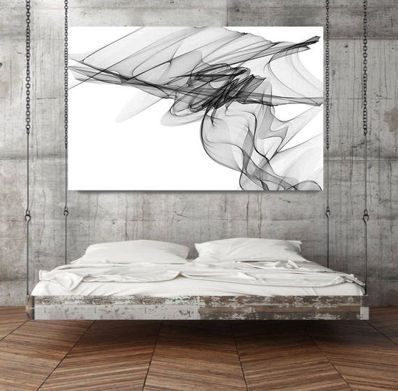 "Abstract Black and White 19-20-43. Contemporary Unique Abstract Wall Decor, Large Contemporary Canvas Art Print up to 72"" by Irena Orlov"
