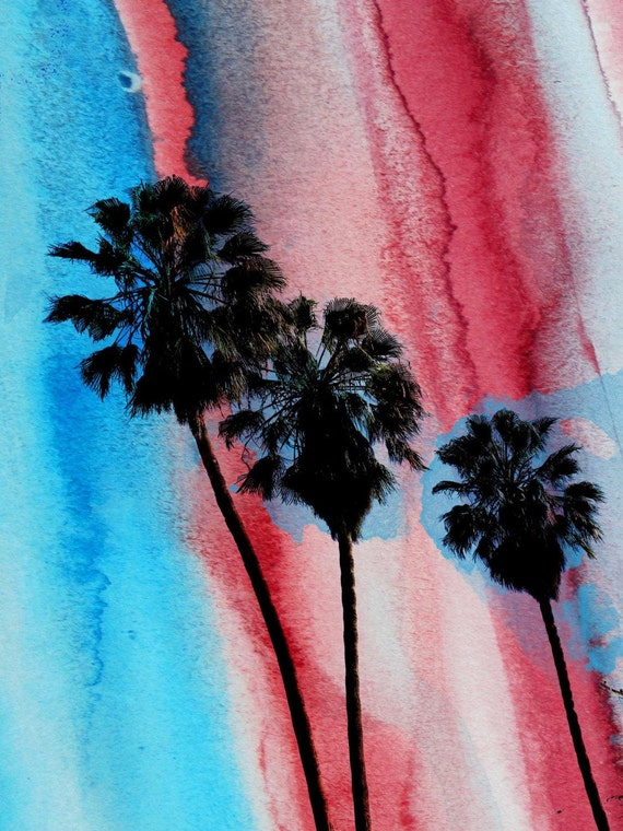 Los Angeles Palms.  Canvas Print by Irena Orlov 40x30""