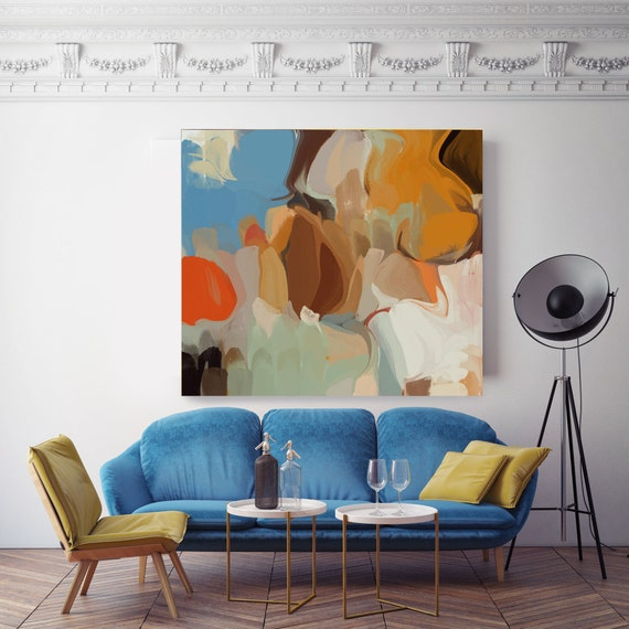 "Timeless abstract. Abstract Paintings Art, Wall Decor, Extra Large Abstract Colorful Contemporary Canvas Art Print up to 48"" by Irena Orlov"