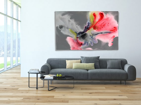 """In my Dreams 3. Watercolor Abstract, Modern Wall Decor, Extra Large Abstract Colorful Contemporary Canvas Art Print up to 72"""" by Irena Orlov"""