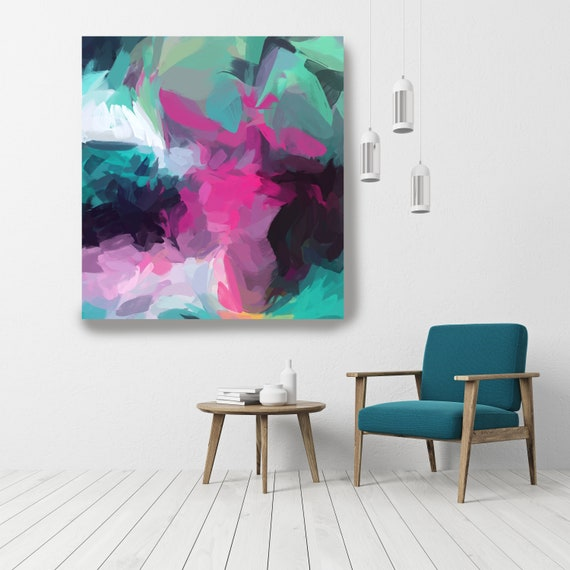 Shadow Abstract, Acrylic Art, Abstract Painting on Canvas, Extra Large Wall Art, Contemporary Home Decor Irena Orlov