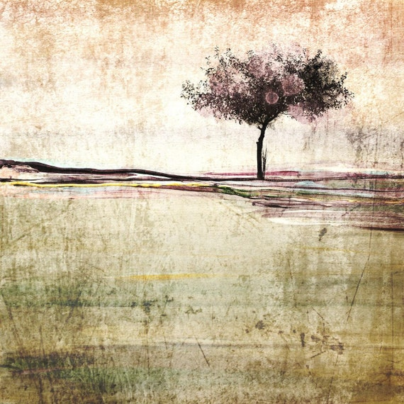 "Huge Rustic Landscape Painting Canvas Art Print, Extra Large Beige Green Brown Canvas Art Print up to 50"" by Irena Orlov"