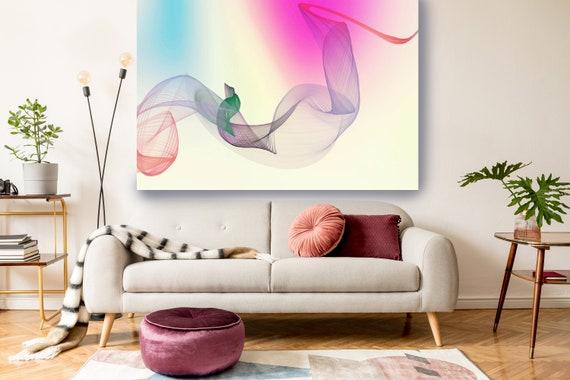 Pink Blue Painting Print, Abstract Wall Art Contemporary Art Large Abstract Canvas Abstract Canvas Print, Modern Abstract, modern art