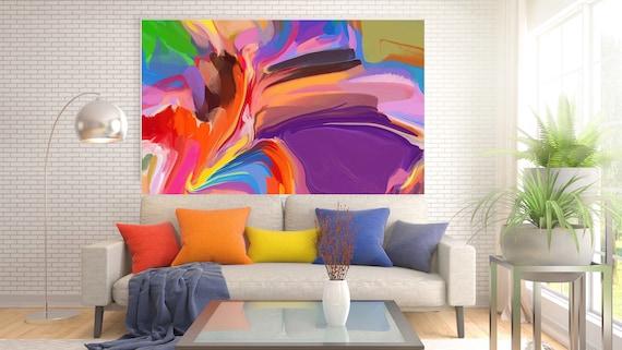 Desert Mirage 2, Original Purple Red Painting, Canvas Art, Abstract Art, Abstract, Painting On Canvas, Large Art, Large abstract