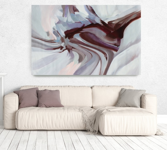 "Motion of Balance, Abstract Painting Modern Wall Art Painting Canvas Art Print Art Modern Pink Blue Brown up to 80"" by Irena Orlov"