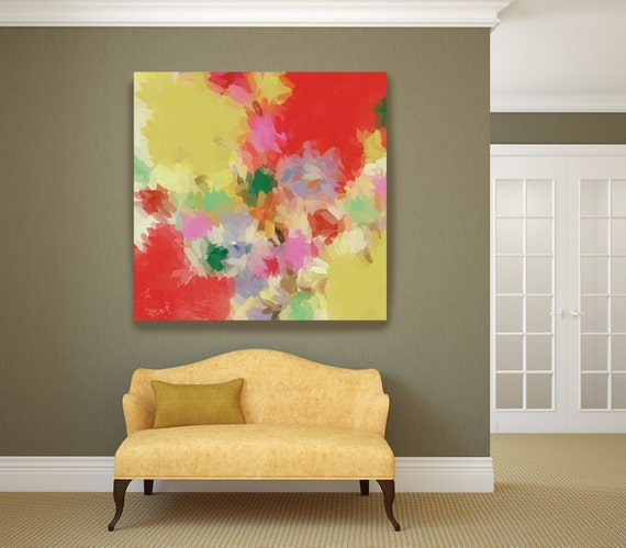 """Kaleidoscope N-3. Abstract Paintings Art, Wall Decor, Extra Large Abstract Colorful Contemporary Canvas Art Print up to 48"""" by Irena Orlov"""