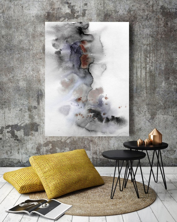 "ORL-7970-2 Wind Power. Watercolor Abstract, Wall Decor, Extra Large Abstract Colorful Contemporary Canvas Art Print up to 72"" by Irena Orlov"