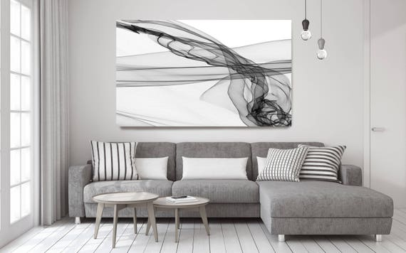 "Abstract Black and White 20-15-23. Contemporary Unique Abstract Wall Decor, Large Contemporary Canvas Art Print up to 72"" by Irena Orlov"