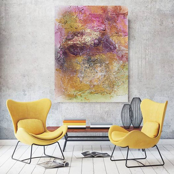 """ORL-6939-1 Vibrant hues 5. Abstract Paintings Art, Wall Decor, Extra Large Abstract Colorful Canvas Art Print up to 72"""" by Irena Orlov"""