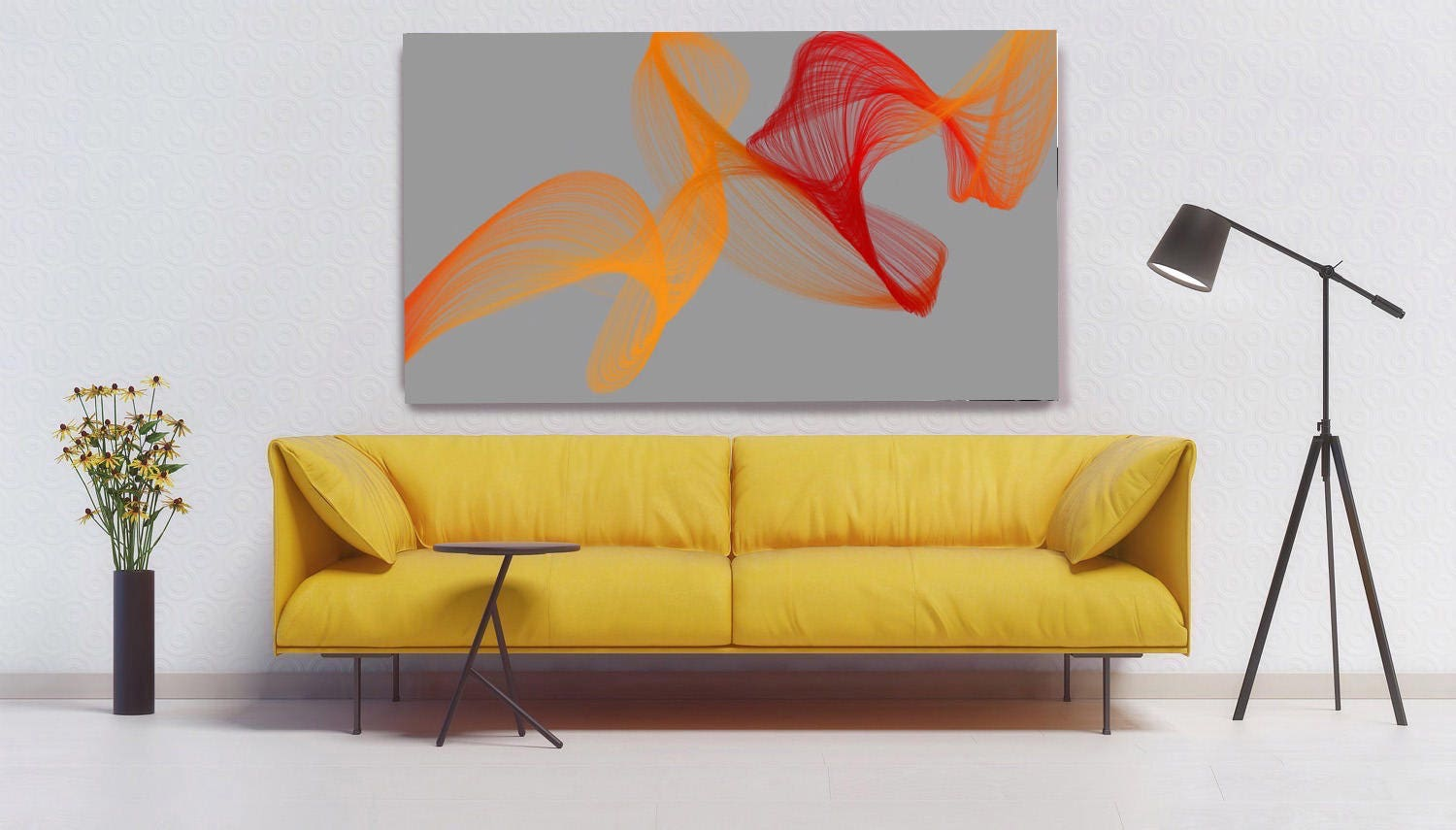 Fire Breeze. Abstract Paintings Art, Wall Decor, Extra Large ...