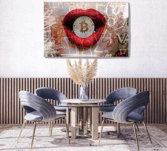 I Love Bitcoin, Bitcoin Canvas Art, Digital Currency Canvas Print, Cryptocurrencies Print, Cryptocurrency Bitcoin Graffiti, Print on Canvas
