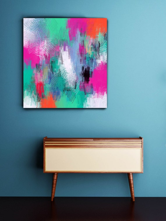 """Form of communication. Abstract Paintings Art, Wall Decor, Large Abstract Colorful Contemporary Canvas Art Print up to 48"""" by Irena Orlov"""